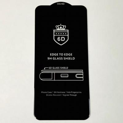 Стекло защитное 6D Premium Black Edition для Xiaomi Redmi Note 10 Pro тех. упаковка- черный