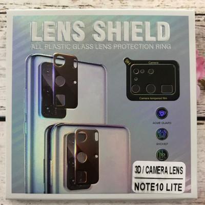 (DL UA) Стекло защитное на камеру 3D LENS SHIELD для Samsung Note 10 Lite/N770- черный