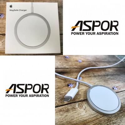 (DS) СЗУ Magsafe Fast Charge Wireless (беспроводное) для Apple 15W A2140- белый