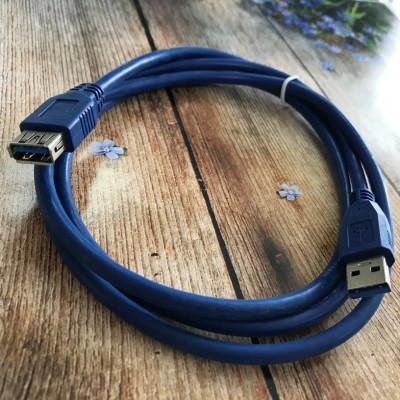 (DL UA) USB кабель (удлинитель) AM/AF (USB 3.0) (1.5m)- синий