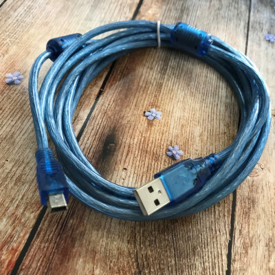 (DL UA) USB кабель Mini USB (3м) тех. упаковка- синий