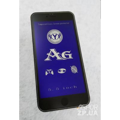 (DL UA) Стекло защитное AG BLUE LIGHT матовое для iPhone 6 Plus- черный