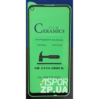 (DL UA) Стекло защитное CERAMiCS для Huawei P40 Lite E/Y7P (2020)- черный