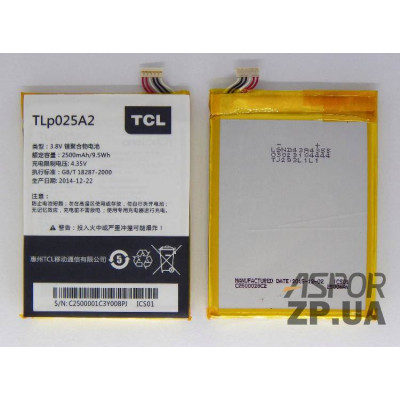 (ZDT) Аккумулятор для Alcatel One Touch 7043/7047D/8000D/8008D/6043D/Blackberry Z3 (TLP025A2)
