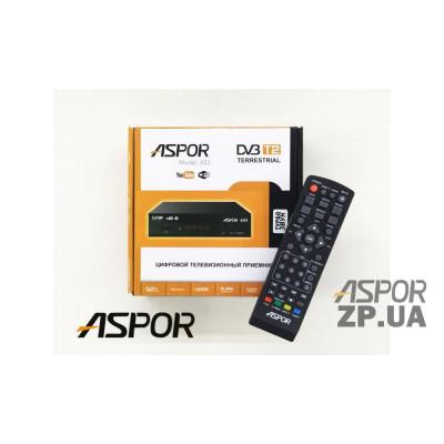Приемник Aspor T2 (603) Turbo Sound для аналогового ТВ- черный
